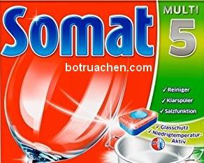 viên rửa chén somat 3 in 1 chuyên dùng cho máy rửa chén