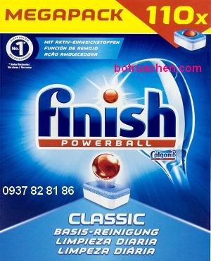 viên rửa bát finish 3 in 1 dùng cho máy rửa bát