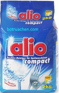 bột rửa chén alio giá rẻ chuyên dùng cho máy rửa chén 1,8kg