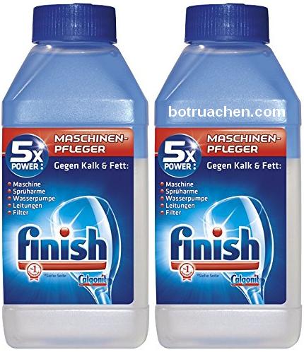 nước vệ sinh máy rửa chén finish tẩy cặn canxi đầu mỡ