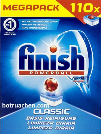 xà phòng rửa bát finish dùng cho máy rửa bát hộp 110 viên