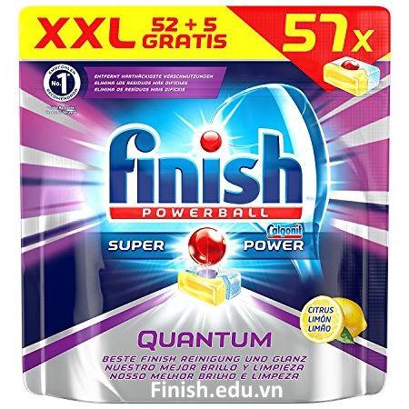 viên rửa bát Finish Quantum 57 viên nhập khẩu châu âu