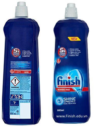 dung dịch nước làm bóng finish 800ml chuyên dùng cho máy rửa bát chén ly