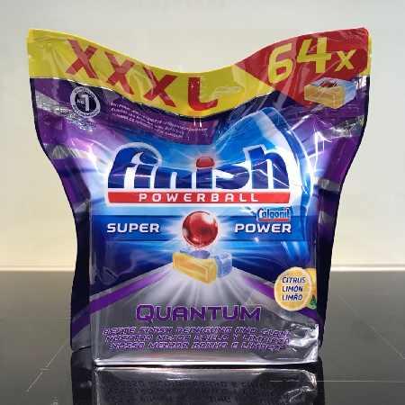 Viên rửa chén finish quantum 64 viên nhập khẩu chính hãng