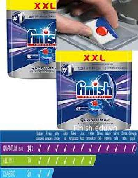 Viên rửa bát finish 90 viên nhập khẩu nguyên hộp đức